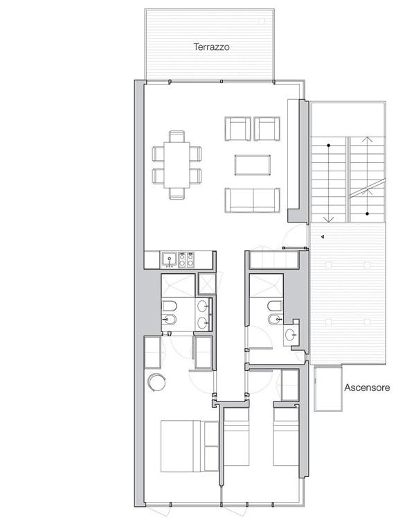 Appartamento Jesolo The Beach Houses pianta 404