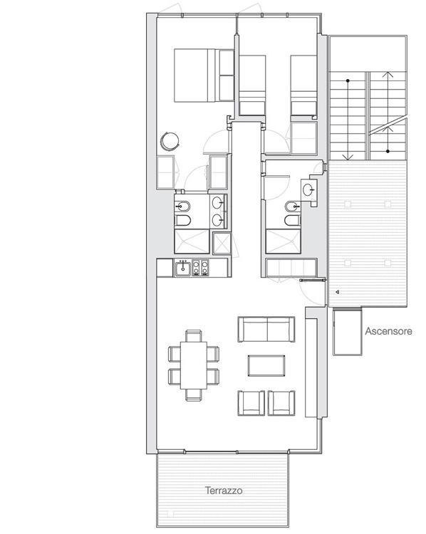 Appartamento Jesolo The Beach Houses pianta 504