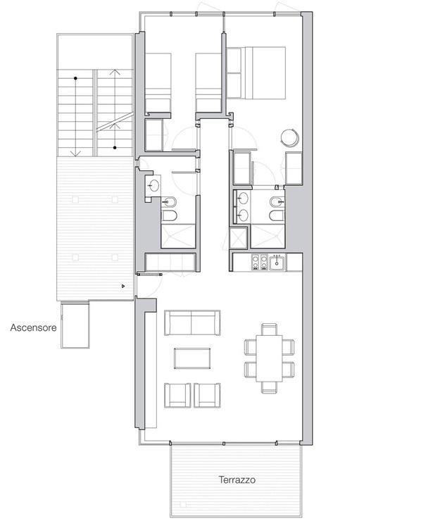 Appartamento Jesolo The Beach Houses pianta 205
