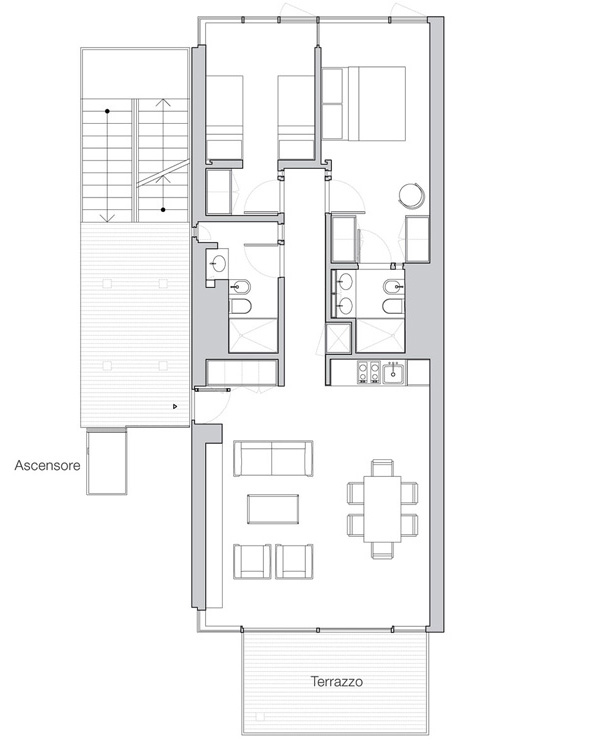 Appartamento Jesolo The Beach Houses pianta 207
