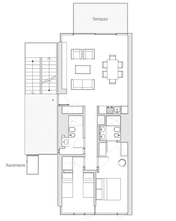 Appartamento Jesolo The Beach Houses 103 pianta